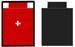 la pièce rouge est marquée, la noire ne l'est pas